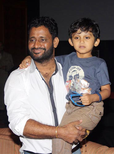 Oscar winner Resul Pookkutty with son Rayan at the event