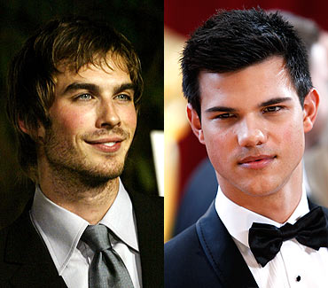 Ian Somerhalder and Taylor Lautner