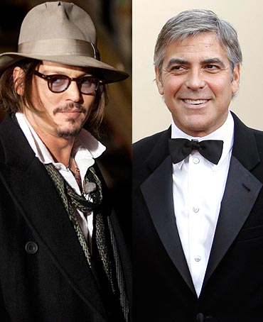 Johnny Depp and George Clooney