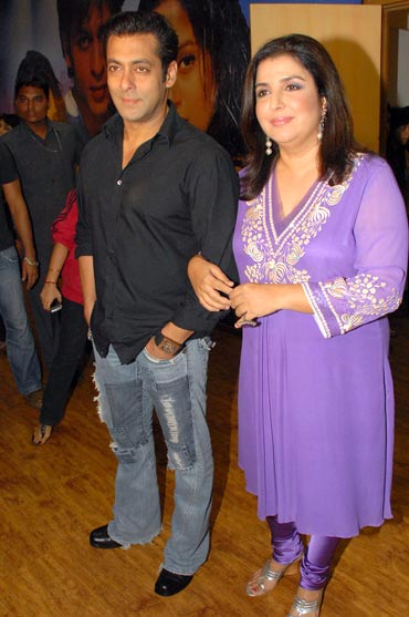 Salman Khan and Farah Khan