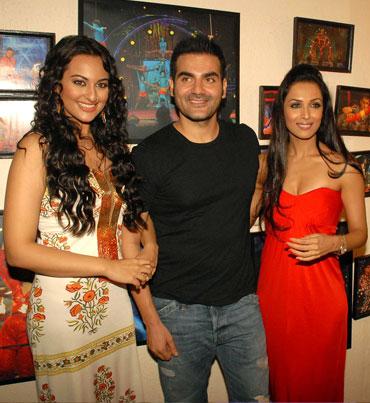 Sonakshi Sinha, Arbaaz Khan and Malaika Arora