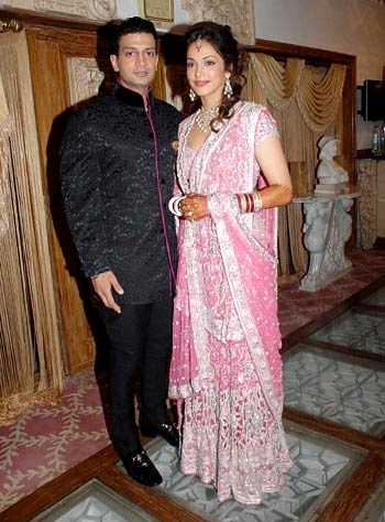 Timmy Narang and Eesha Koppikar on their wedding day