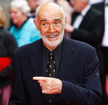 Sean Connery arrives at the Edinburgh International Film Festival in June