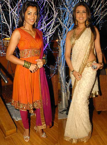 Mugdha Godse and Aarti Chhabria