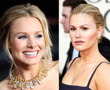 Kristen Bell and Anna Paquin,