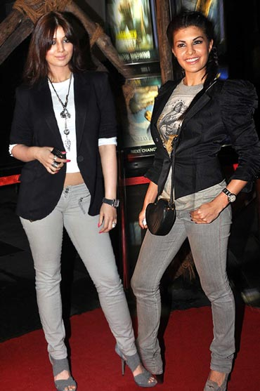 Ayesha Takia Azmi and Jacqueline Fernandez
