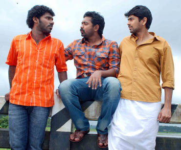 Abhishek, Asif Ali and Nishaan in Nammude Katha