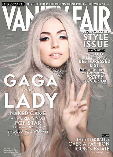 Lady Gaga on the cover of Vanity Fair
