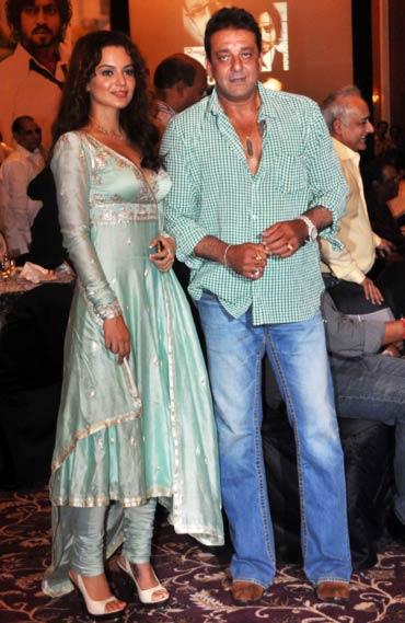 Kangna Ranaut and Sanjay Dutt