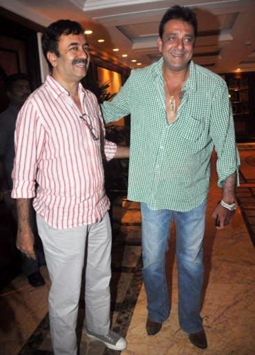 Rajkumar Hirani and Sanjay Dutt