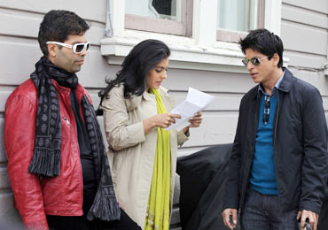 Karan Johar, Kajol and Shah Rukh Khan