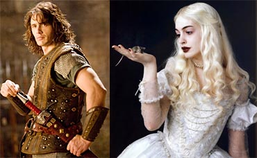 James Franco in Your Highness, and Anne Hathaway in Alice in Wonderland