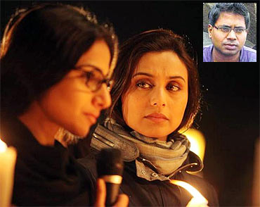 Vidya Balan and Rani Mukerji in No One Killed Jessica. Inset: Raj Kumar Gupta