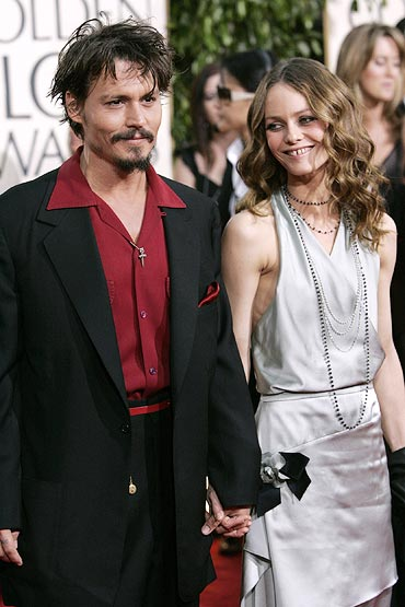 Johny Depp and Vanessa Paradis