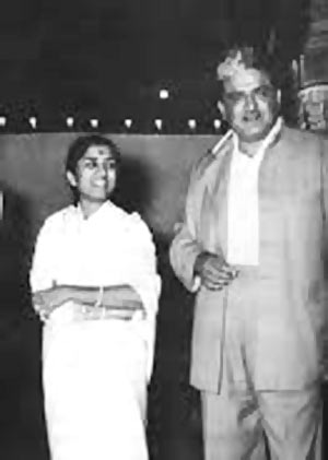 Lata Mangeshkar with composer C Ramchandra