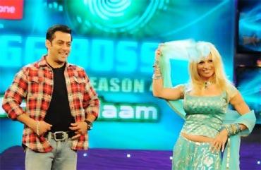 Salman Khan and Pamela Anderson