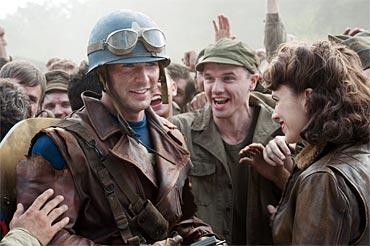 A scene from Captain America