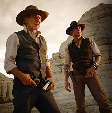 A scene from Cowboys and Aliens