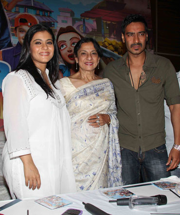 Kajol, Tanuja and Ajay Devgn