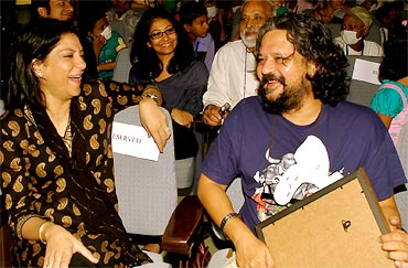 Priya Dutt and Amol Gupte