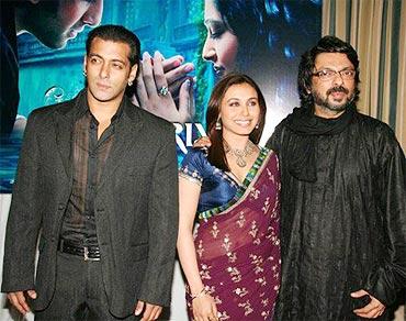 Salman Khan, Rani Mukherji and Sanjay Leela Bhansali
