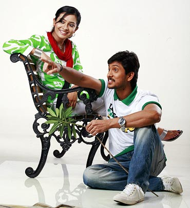 Radhika Pandit and Ajay in Krishnan Love Story
