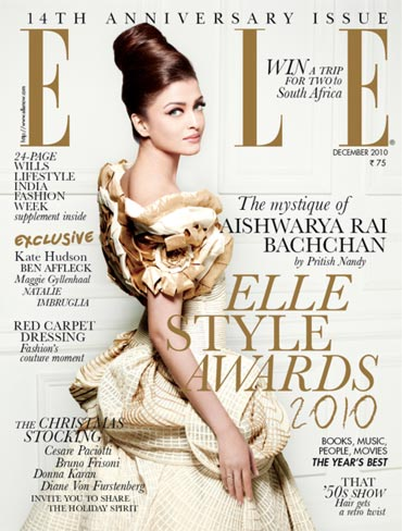Aishwarya Rai Bachchan on the cover of Elle