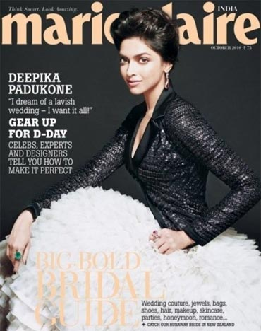 Deepika Padukone on the cover of Marie Claire