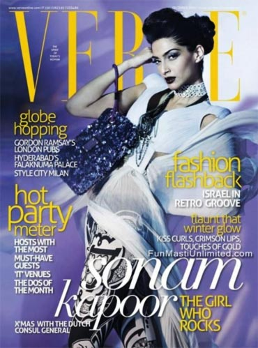 Sonam Kapoor on the cover of Verve