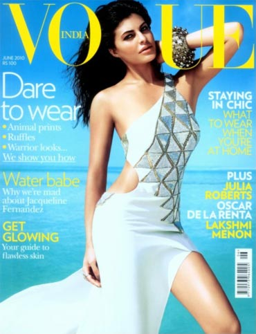 Jacqueline Fernandez on the cover of Vogue