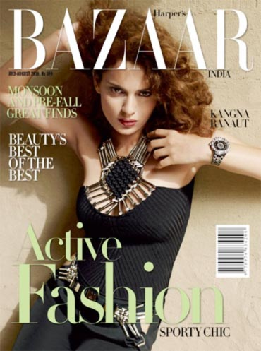 Kangana Ranaut on the cover of Harper's Bazaar