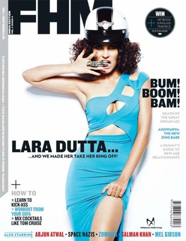 Lara Dutta on the cover of  FHM