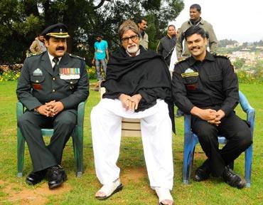 Mohanlal, Amitabh Bachchan and Ganesh Venkataraman