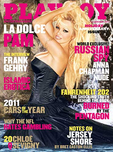 Pamela Anderson on the cover of Playboy
