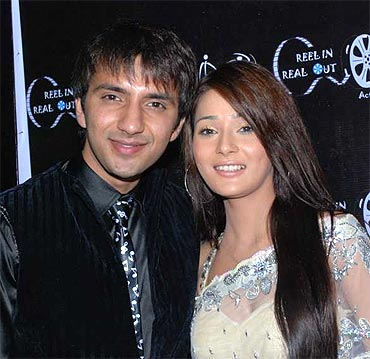 Ali Merchant and Sara Khan