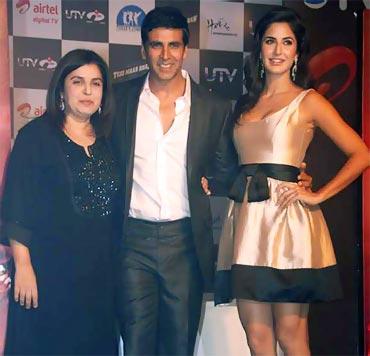 Farah Khan, Akshay Kumar and Katrina Kaif