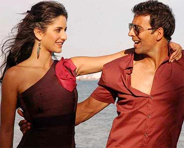 Katrina Kaif and Akshay Kumar in Tees Maar Khan