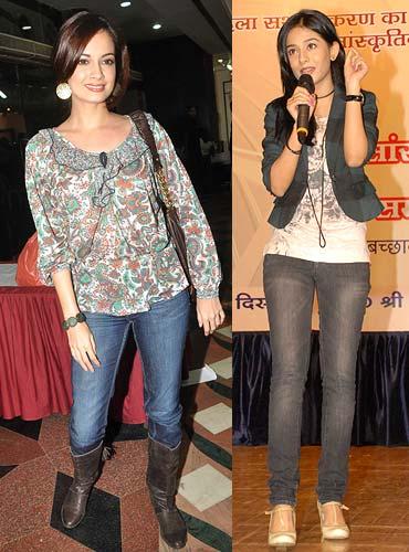 Dia Mirza and Amrita Rao