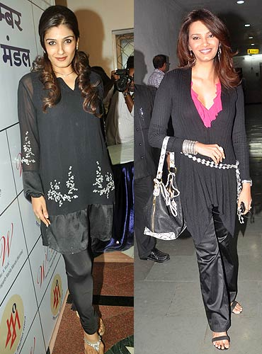 Raveena Tandon and Diana Hayden