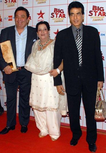 Rishi Kapoor, Shobha Kapoor and Jeetendra