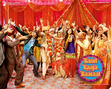 Movie poster of Band Baaja Baarat