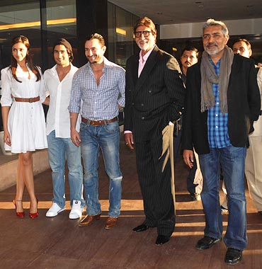 Deepika Padukone, Prateik Babbar, Saif Ali Khan, Amitabh Bachchan and Prakash Jha