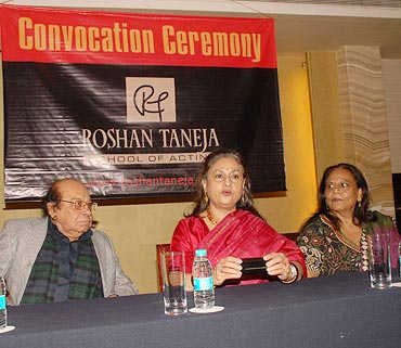 Roshan Taneja, Jaya Bachchan and Mithika Taneja