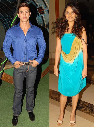 Sahil Khan and Tejaswini Kolhapure