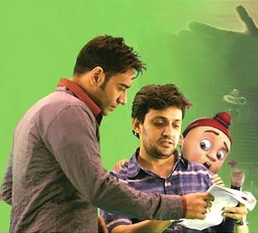 Ajay Devgn and Kireet Khurana