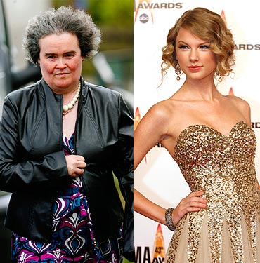 Susan Boyle and Taylor Swift