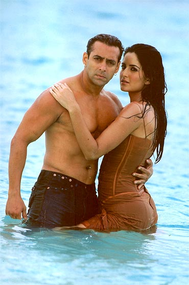 Salman and Katrina Kaif in Maine Pyar Kyun Kiya. They are no longer a pair, it seems