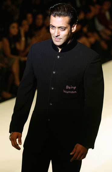 Salman walks the ramp for his Being Human charity