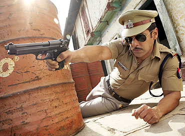Salman Khan as the hugely entertaining Chulbul Pandey in Dabangg