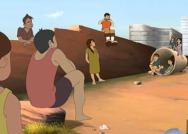 A scene from Chintu Skool